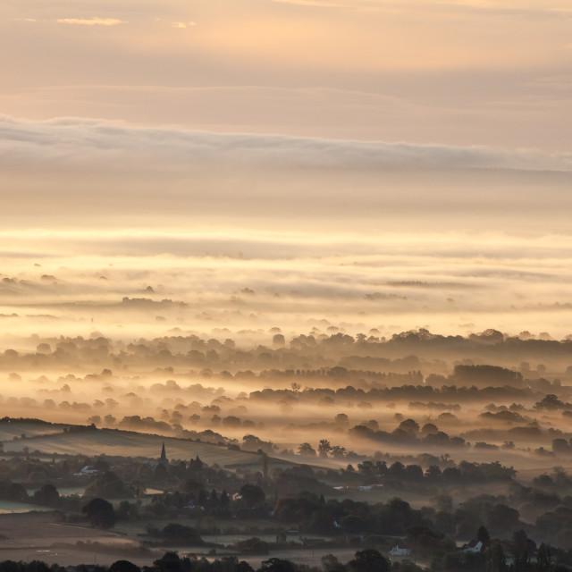 """Severn Valley Mist"" stock image"