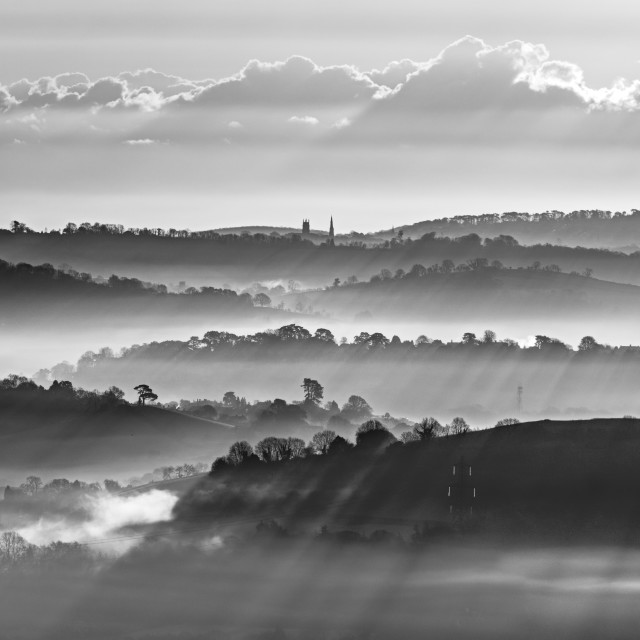 """""""Misty Morning Recession"""" stock image"""