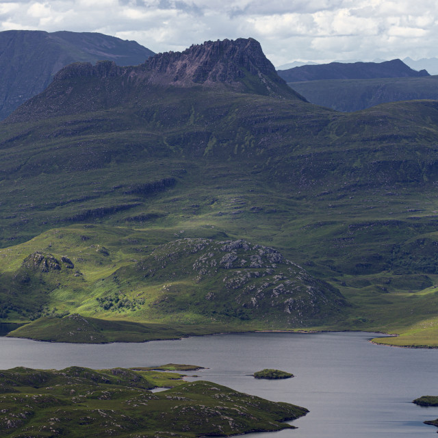 """""""Stac Pollaidh, Viewed from Suilven, Scottish Highlands"""" stock image"""