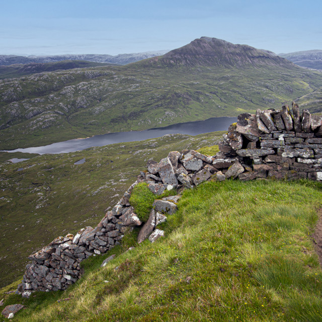 """""""Canisp, Viewed from Suilven, Scottish Highlands"""" stock image"""