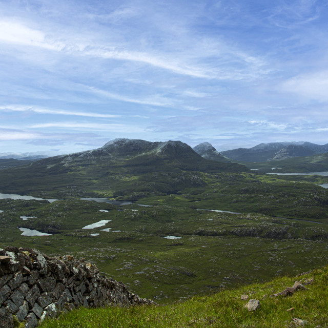 """""""Cul Mor and the Coigach Range, Viewed from Suilven"""" stock image"""