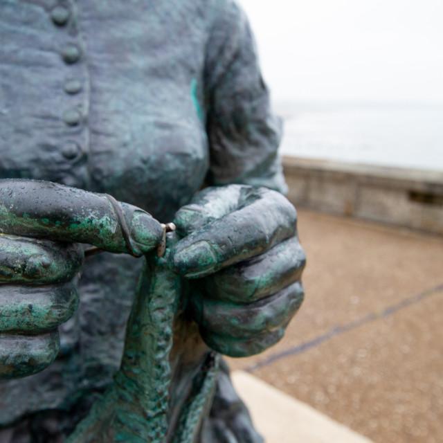 """""""Gansey Girl Bronze Statue"""" stock image"""