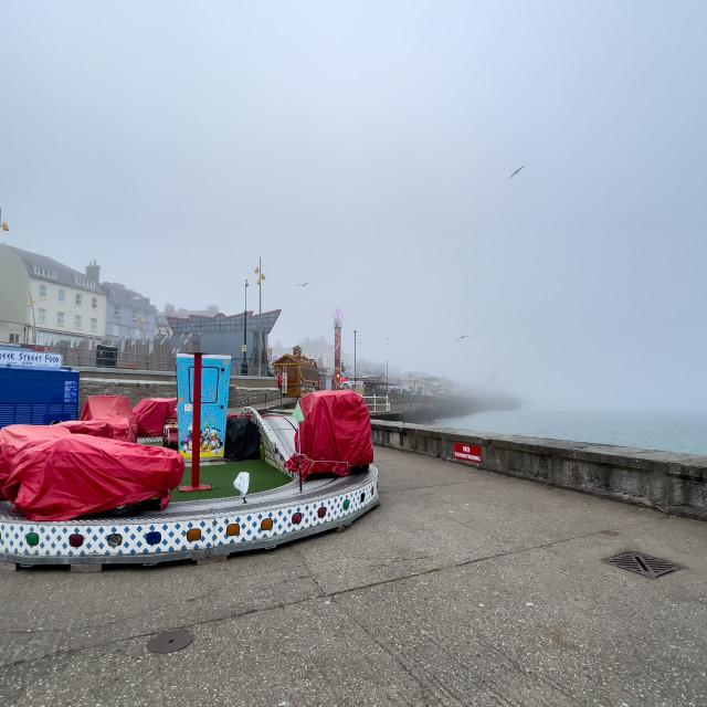 """Fairground Ride, Bridlington Seafront."" stock image"