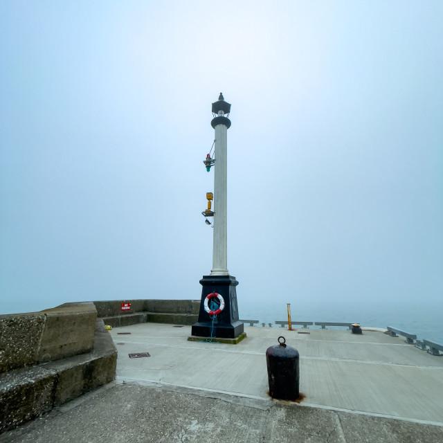 """Harbour Light, Bridlington."" stock image"