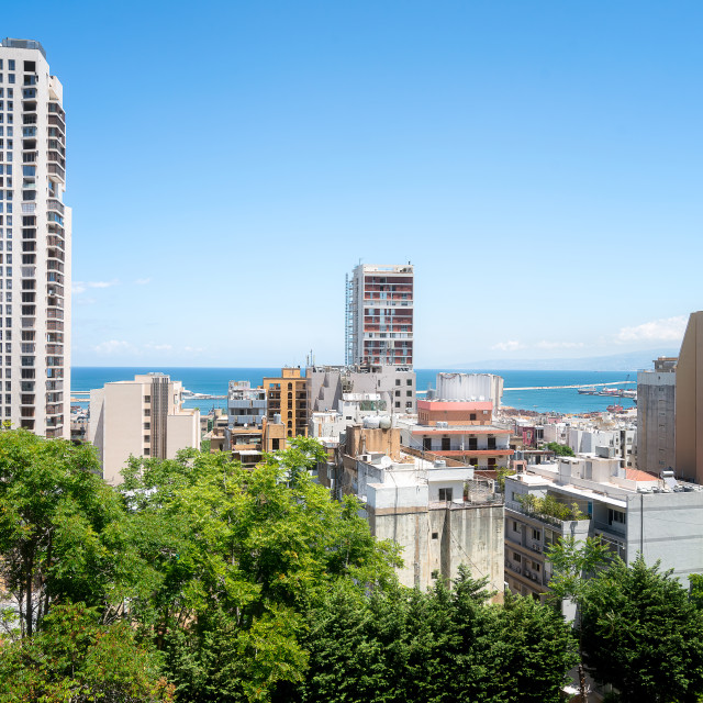 """""""City-view of Beirut in Lebanon"""" stock image"""