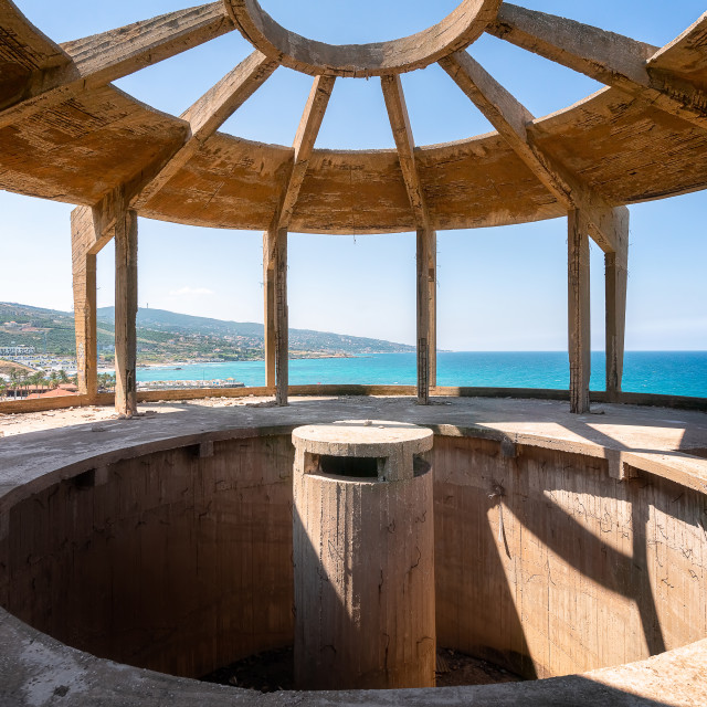 """Abandoned Aquarium Tower in Batroun Lebanon"" stock image"