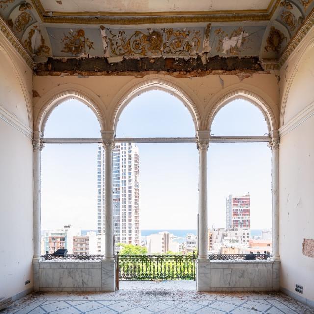 """Balcony of Quantum House in Beirut Lebanon"" stock image"