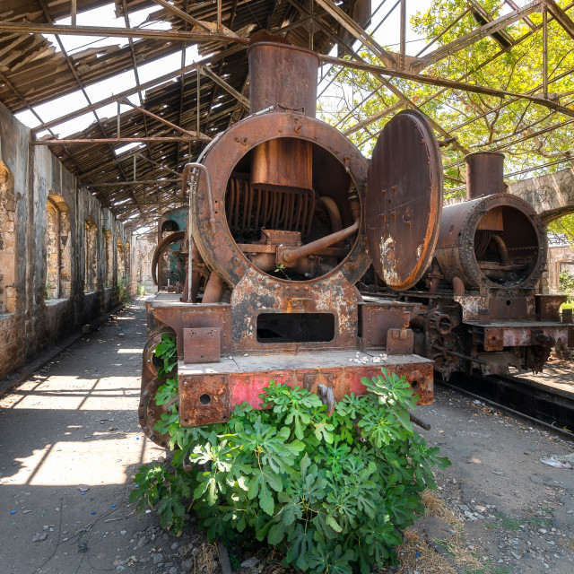 """""""Abandoned Train Industrial Heritage"""" stock image"""
