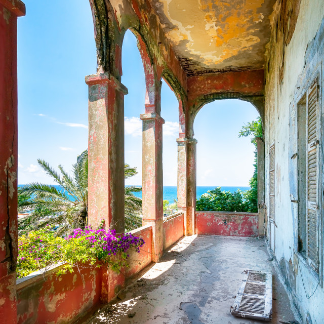 """Balcony of Rose House in Beirut Lebanon"" stock image"