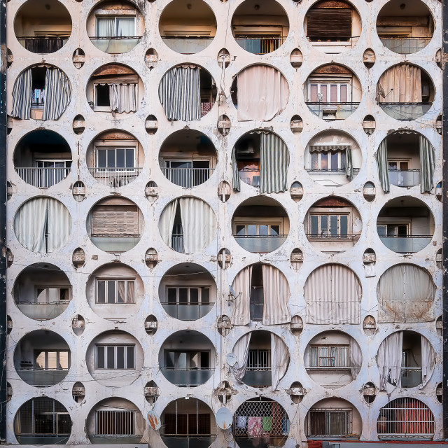 """Kojak-Jaber Building in Beirut Lebanon"" stock image"
