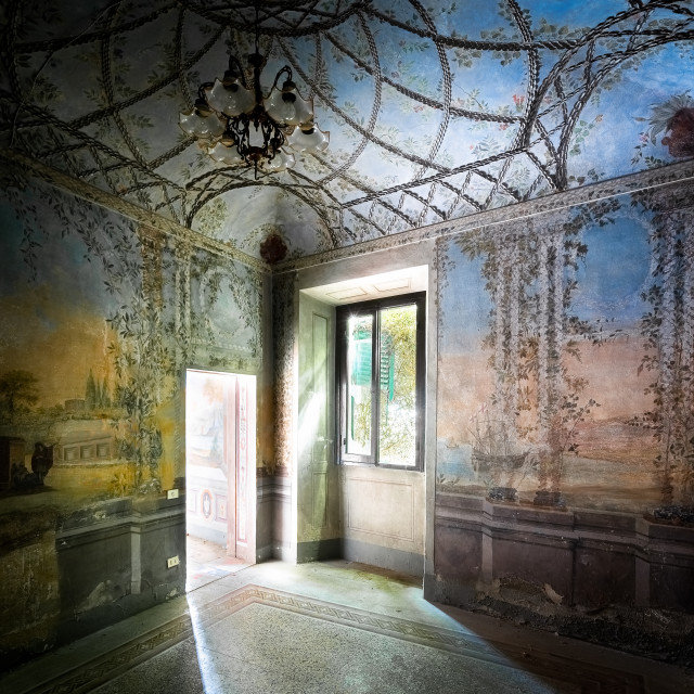 """""""Fresco Covered Room in Italian Palace"""" stock image"""