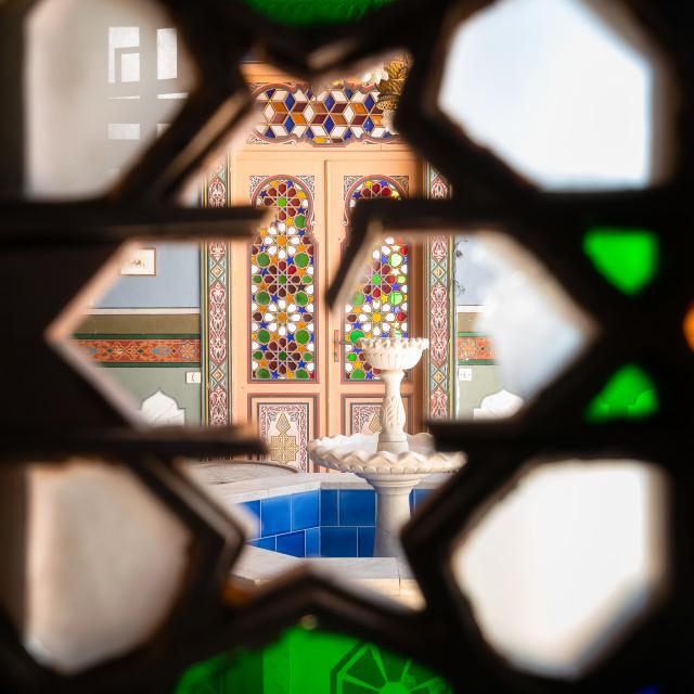 """""""Secret Fountain in Tabbal Building Beirut Lebanon"""" stock image"""