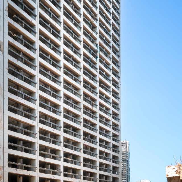 """""""Exterior of Holiday Inn Hotel in Beirut"""" stock image"""