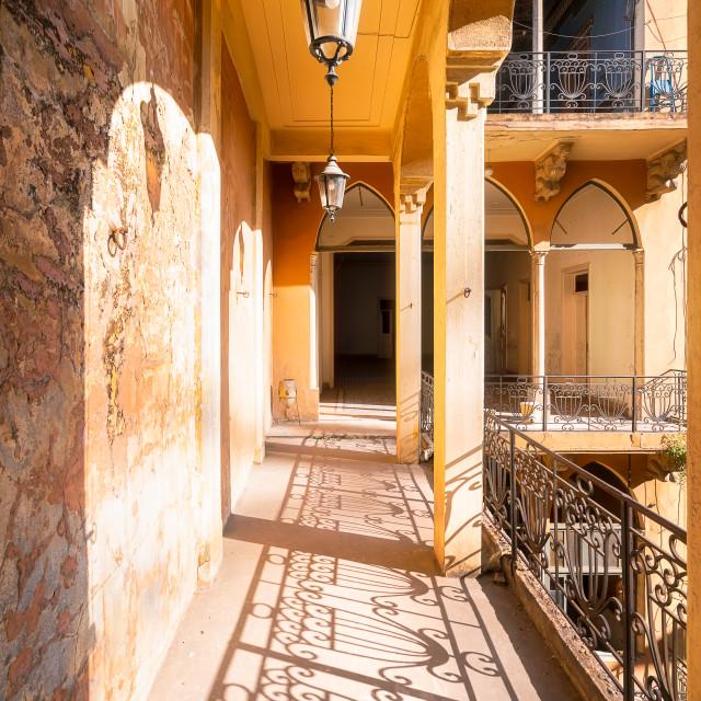 """Hallway of Tabbal Building in Beirut Lebanon"" stock image"