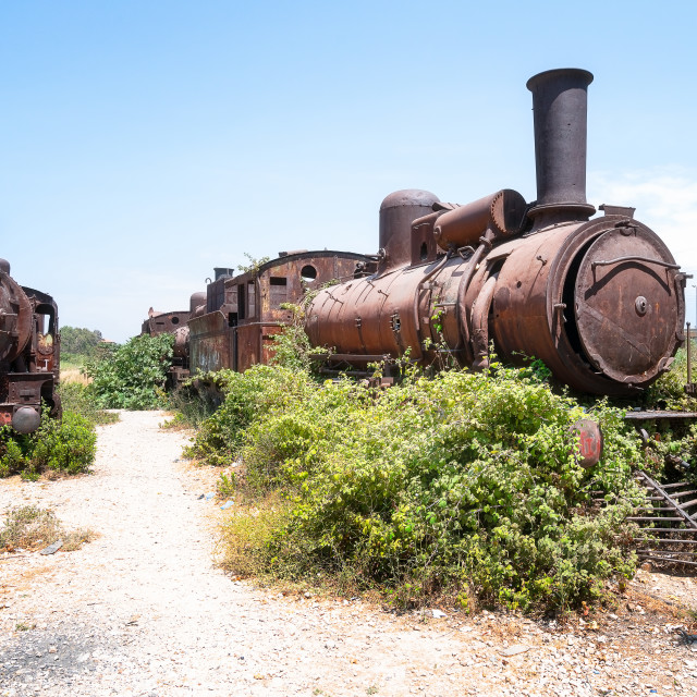 """""""Abandoned Trains Industrial Heritage"""" stock image"""