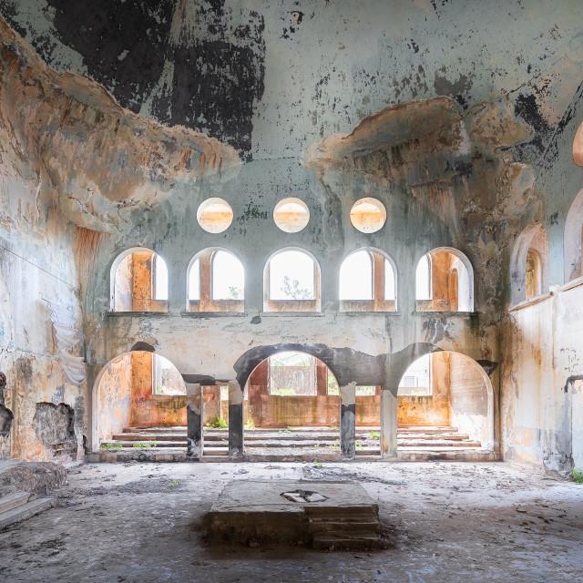 """""""Abandoned Bhamdoun Synagoge in Lebanon"""" stock image"""