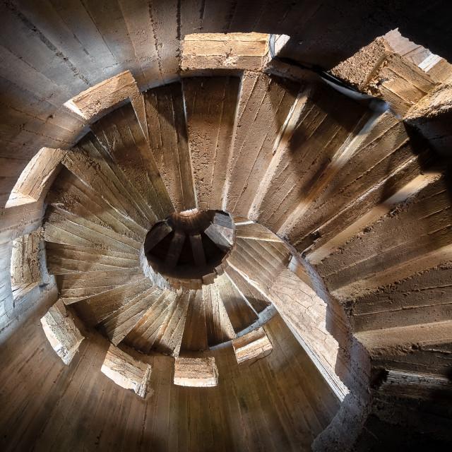 """Staircase of Abandoned Aquarium Tower in Batroun Lebanon"" stock image"