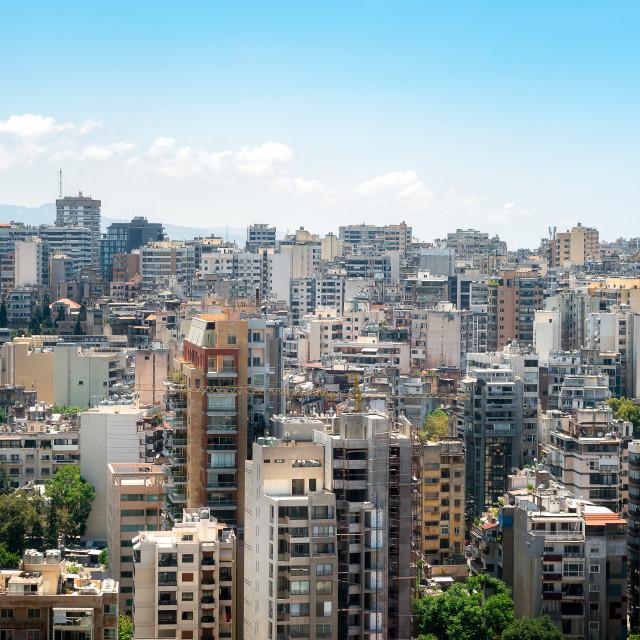 """City View of Beirut Lebanon"" stock image"