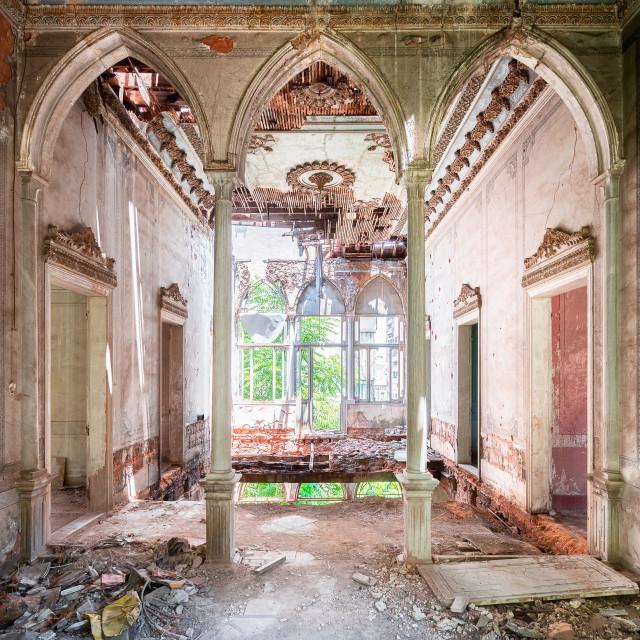 """""""Abandoned Palace in Beirut Lebanon"""" stock image"""