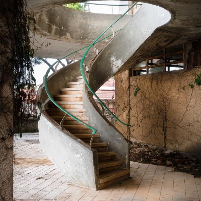 """Staircase of Youssef Baidas Villa in Lebanon"" stock image"