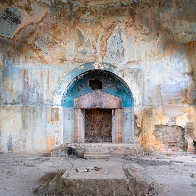 """""""Abandoned Bhamdoun Synagoge Lebanon"""" stock image"""