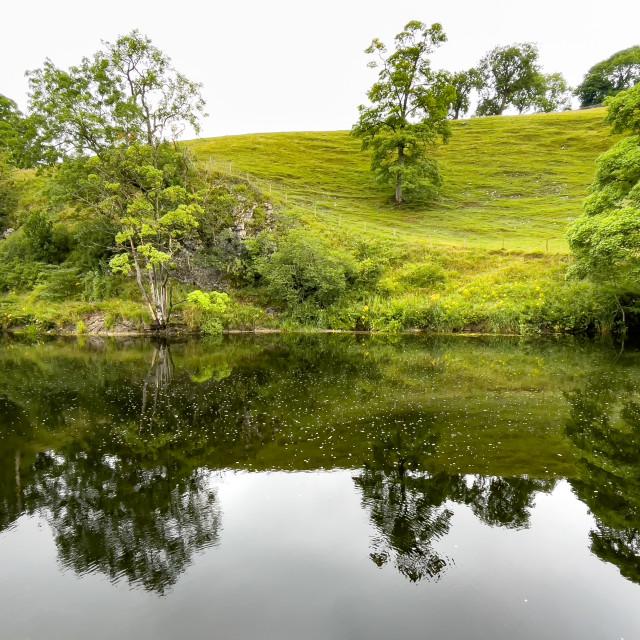 """River Wharfe, Burnsall"" stock image"