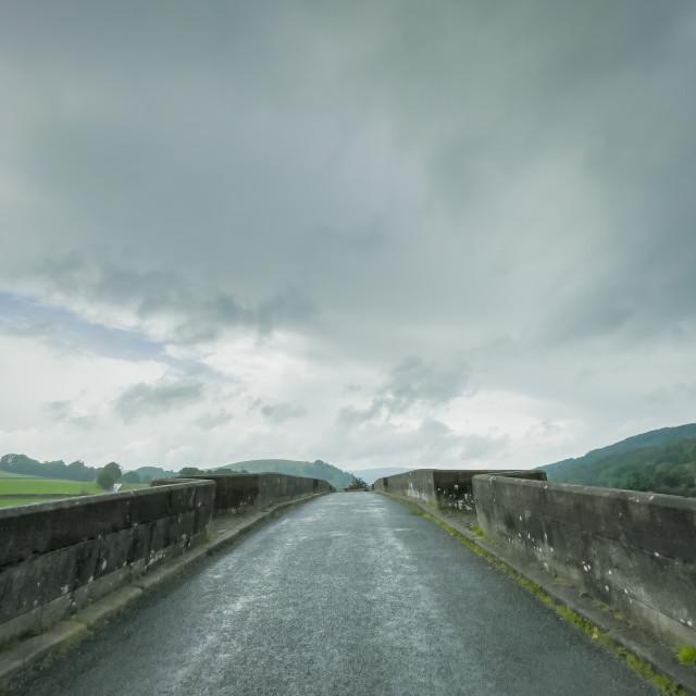 """""""Burnsall Bridge."""" stock image"""