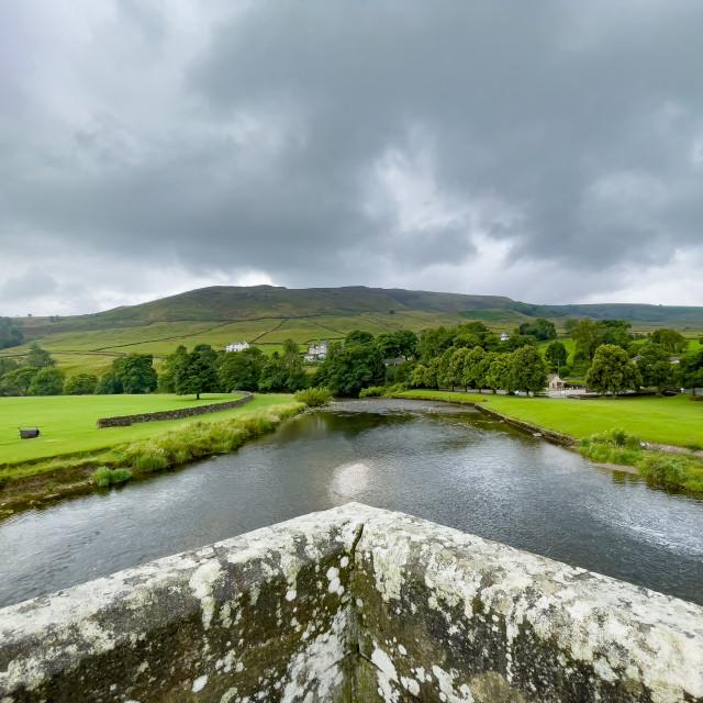 """""""River Wharfe and Burnsall Fell"""" stock image"""