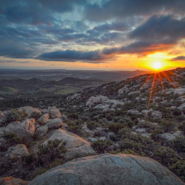 """San Diego Sunset"" stock image"