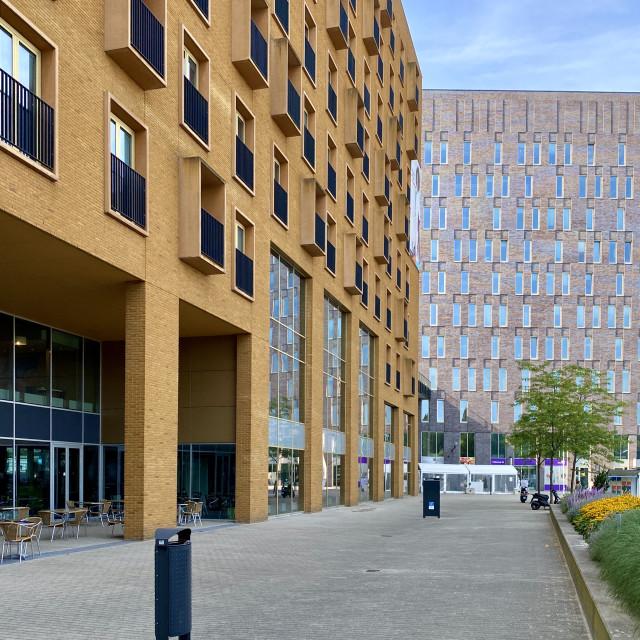 """New modern hospital building."" stock image"
