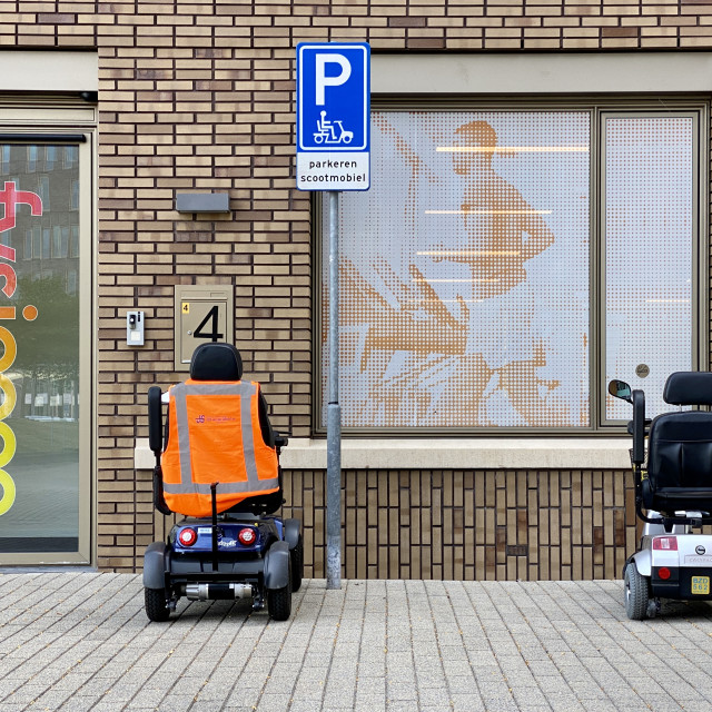 """""""Physiotherapy building parking."""" stock image"""