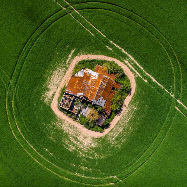"""""""Abandoned Farmhouse, Hampshire, UK"""" stock image"""