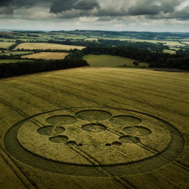 """Crop Circle, Wiltshire, UK"" stock image"
