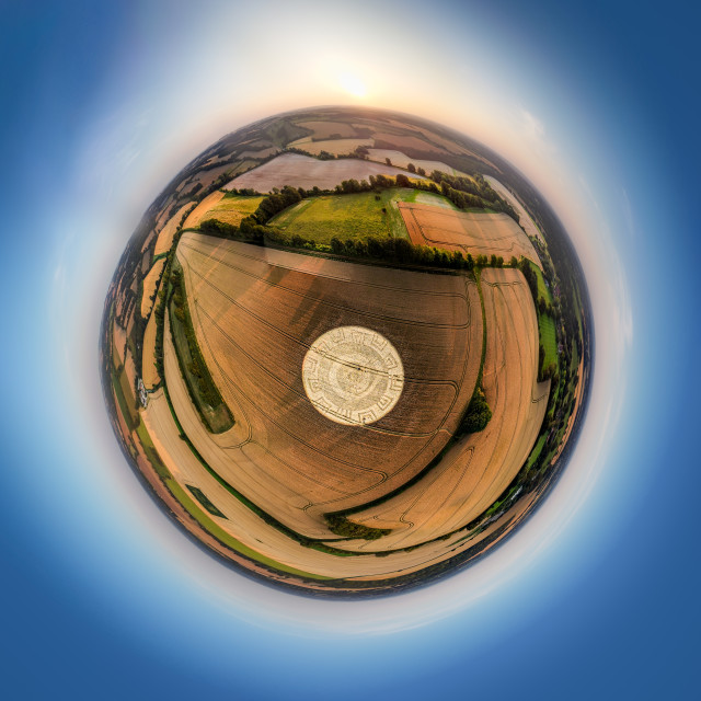 """Crop Circle, Hampshire, UK"" stock image"