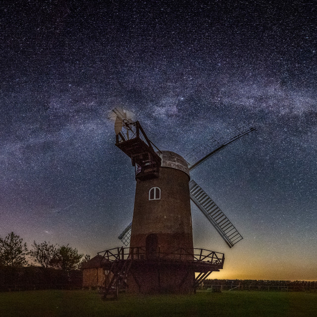 """Wilton Windmill under the Milky Way, Wiltshire, UK"" stock image"