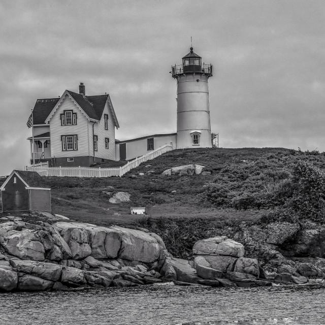 """""""Nubble Lighthouse"""" stock image"""