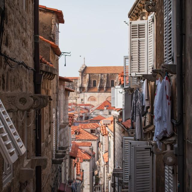 """Alleyways of Dubrovnik, Croatia"" stock image"