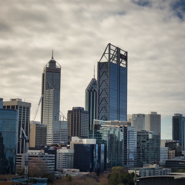"""""""Perth from Kings Park"""" stock image"""