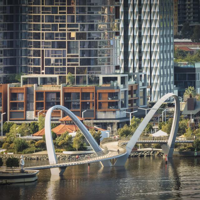 """View of Elizabeth Quay"" stock image"