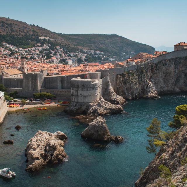 """Walled City of Dubrovnik, Croatia"" stock image"