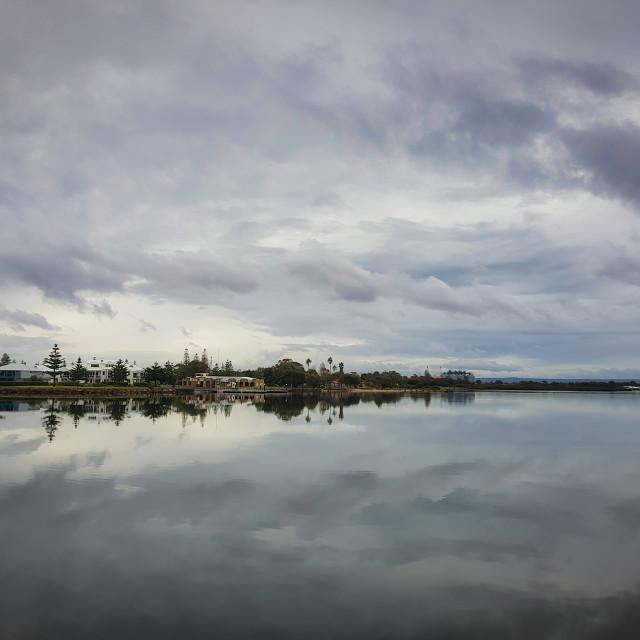 """Reflected Sky, Bunbury"" stock image"
