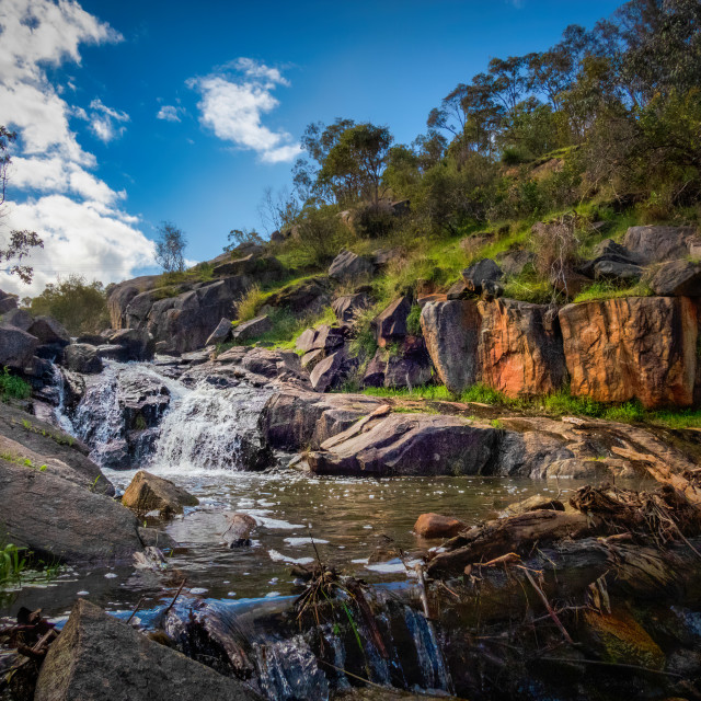"""""""Nyaania Creek in Full Flow"""" stock image"""