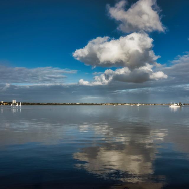 """Still Water Expanse, Matilda Bay"" stock image"