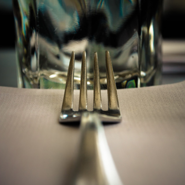 """""""A Fork's Perspective"""" stock image"""