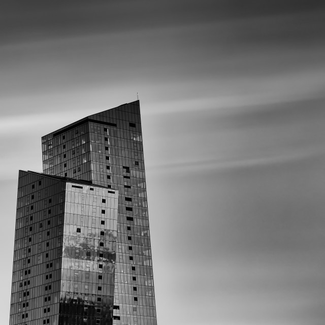 """""""The Bent Buildings, Docklands"""" stock image"""
