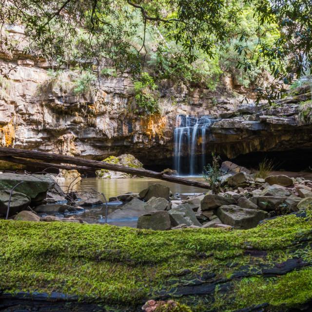 """""""Den of Nargun Waterfall"""" stock image"""