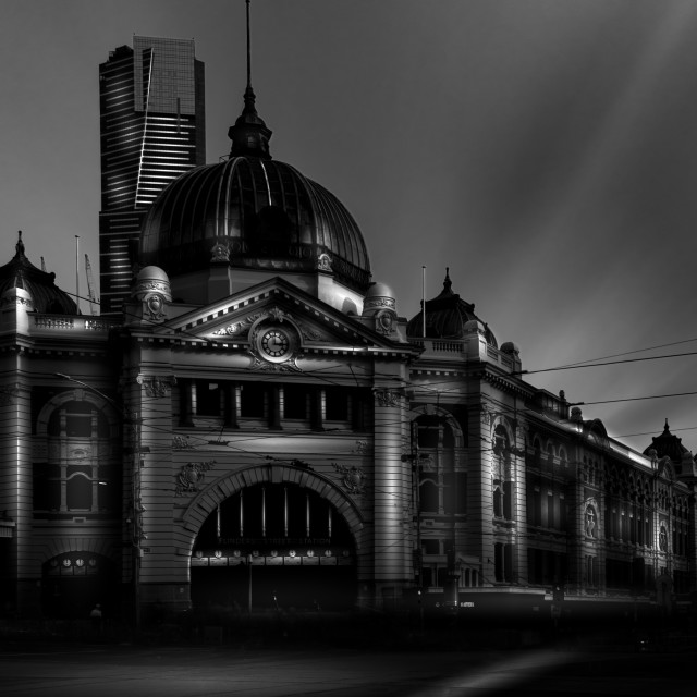 """Flinders Street Station"" stock image"