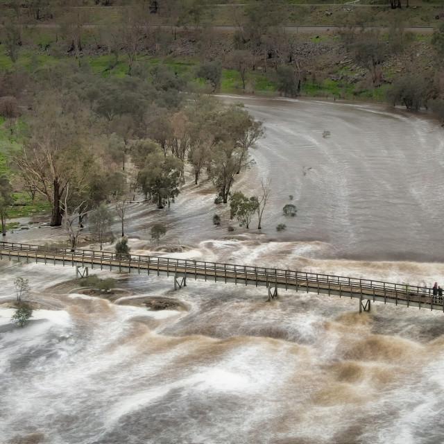 """""""Bells Rapids Bridge 2"""" stock image"""