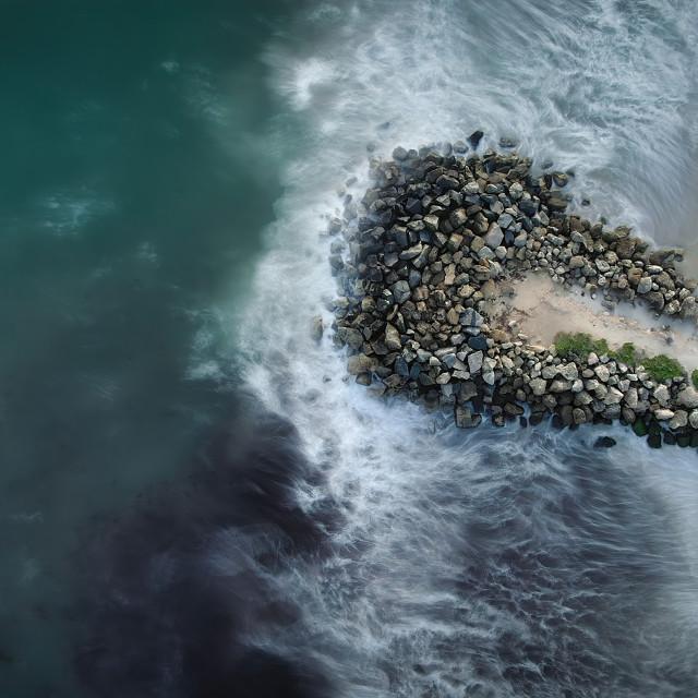 """Breakwater Surf"" stock image"