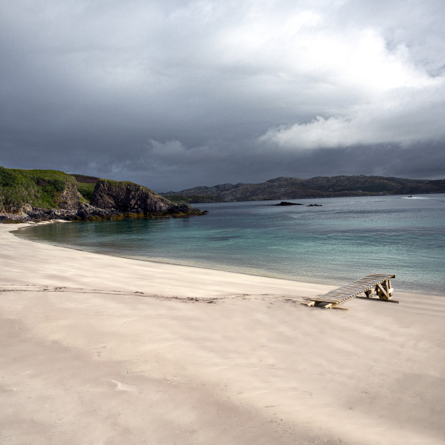 """Handa Beach, Scottish Highlands"" stock image"